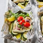 Baked Fish-in-Foil with Vegetables