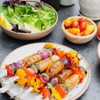 veggies sausage kabobs