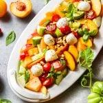 cantaloupe peach fruit salad
