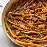 mediterranean braised green beans