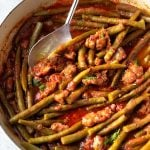 Braised Green Beans with Sausage