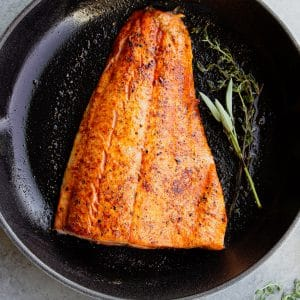 easy pan seared salmon