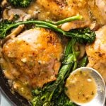 Braised Chicken with Mushrooms and Broccoli