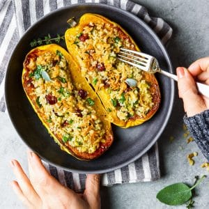stuffed delicata squash with quinoa