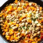 Ground Turkey Butternut Squash Skillet