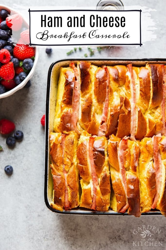 ham and cheese breakfast casserole with bread
