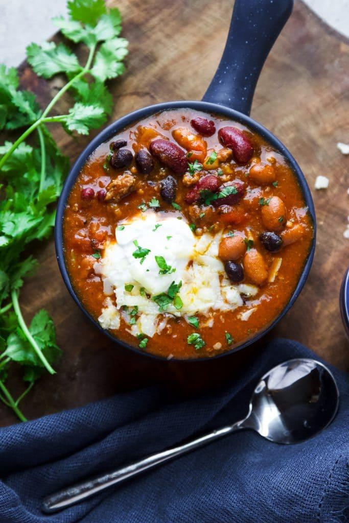 Slow Cooker Turkey Chili Gardeninthekitchen Com