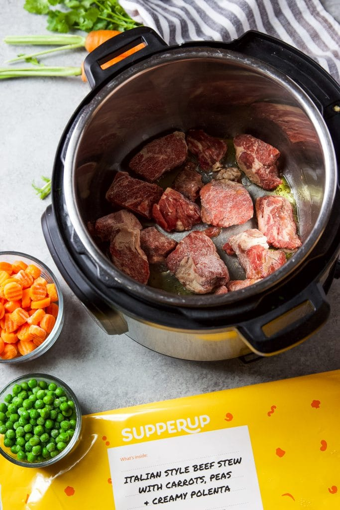 beef stew cooked in the instant pot
