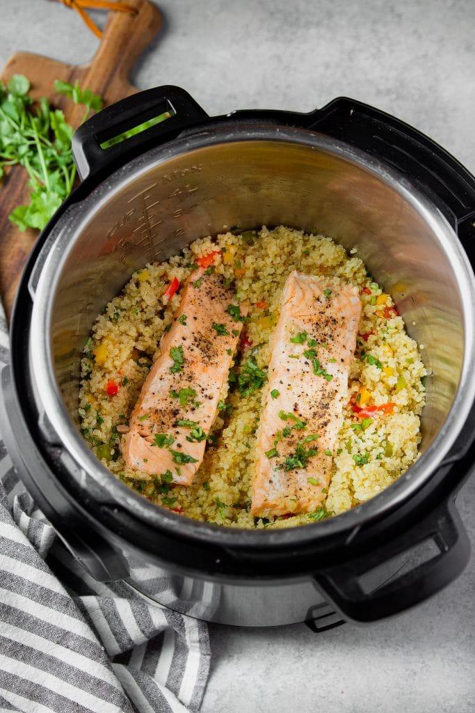 instant pot salmon and quinoa
