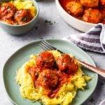 Instant Pot Turkey Meatballs Spaghetti Squash
