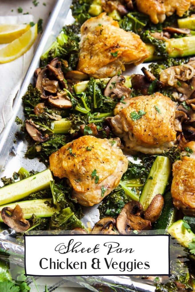 sheet pan chicken thighs and veggies