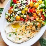 mediterranean hummus salad