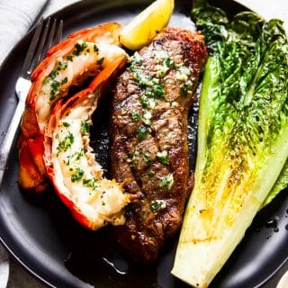 surf and turf steak and lobster