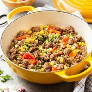 ground beef corn skillet