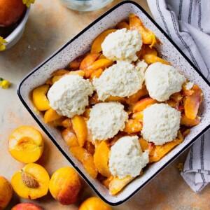 peach cobbler buttermilk biscuits