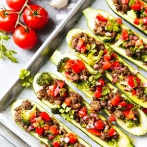 stuffed zucchini boats healthy