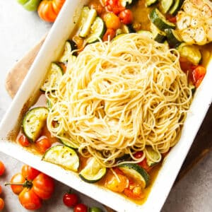 summer roasted vegetable pasta