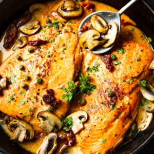 keto tuscan salmon skillet